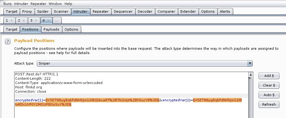 Decrypting AES With Burp Intruder « Flinkd!
